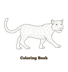 Coloring book leopard african savannah animal vector