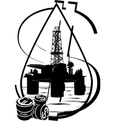 crude oil production vector image
