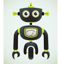 Cute retro robot vector