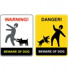 danger beware of dog vector image