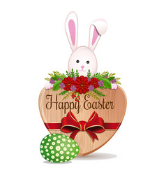 Easter bunny and easter egg - symbols of easter vector