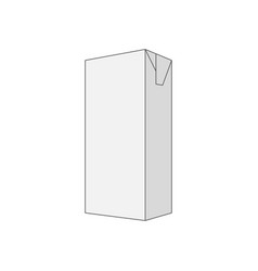 empty gray box template vector image