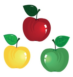 fruit icon apple isolated on white background elem vector image vector image