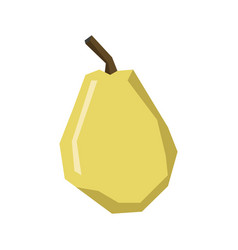 Isolated geometric pear vector