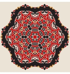 Mandala in Red and Brown Colors vector image