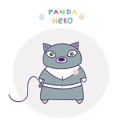 Panda hero cat vector
