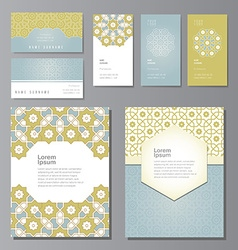 PrintBanners and visit cards set vector image vector image