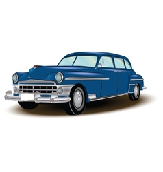 Retro car blue vector