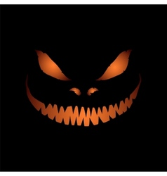 Scary face isolated on black background vector image vector image