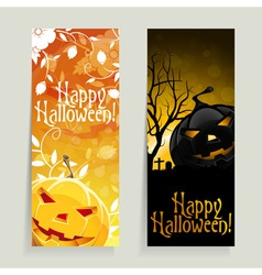 Set of Halloween Banners vector image vector image