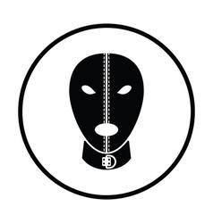 Sex mask icon vector
