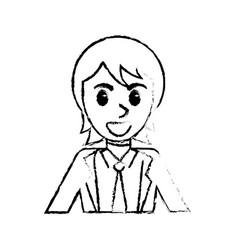 sketch man portrait cartoon image vector image