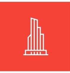 Skyscraper office building line icon vector image