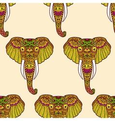 Zentangle stylized indian elephant hand drawn vector