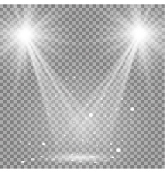 White glowing transparent disco lights background vector