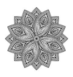 Mandala decorative floral or herbal pattern vector