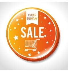 Big sale cyber monday button vector