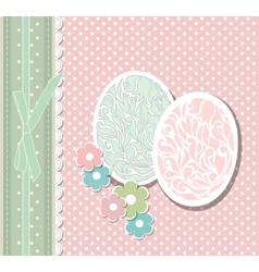 Vintage easter card with eggs vector