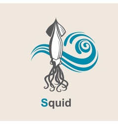 Image of squid vector