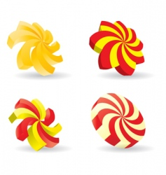 3d spiral icon vector image