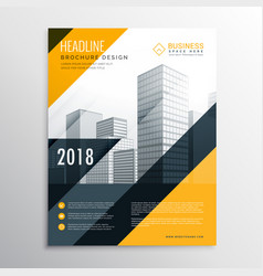 Yellow and black business brochure design template vector