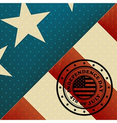 USA Flag and Independence day stamp vector image