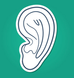 Ear hearing symbol vector image