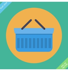 Shopping basket icon - vector