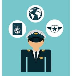 pilot airplane vector image