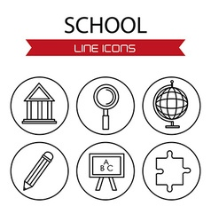 Line icons design vector