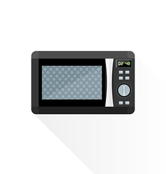 Flat style black microwave oven vector
