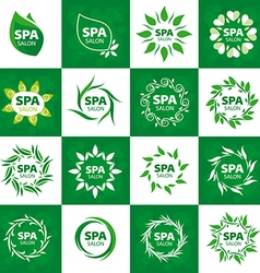 biggest collection of logos for spa salon vector image