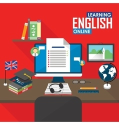E-learning english language vector