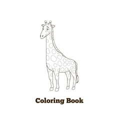 Coloring book giraffe african savannah animal vector