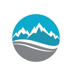 Mountain logo vector