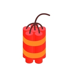 Red dynamite sticks isometric 3d icon vector