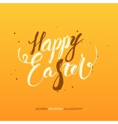 Happy easter calligraphy write with brush pen vector