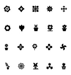 Flowers icons 3 vector