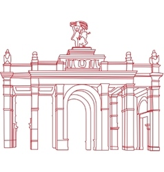 The main gate of the VDNKh vector image