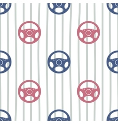 Steering wheels seamless pattern vector