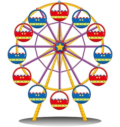 A ferris wheel vector image