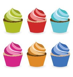 cupcake collection vector image