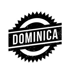 Dominica rubber stamp vector