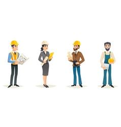 Engineers cartoon set vector