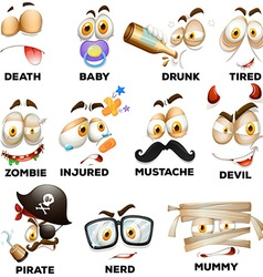 Facial expression with wording vector