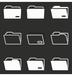 Folder icon set vector