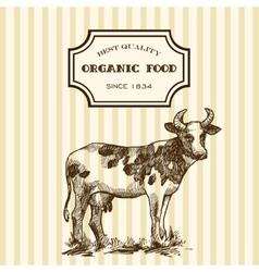 hand drawn milk vector image vector image