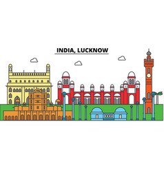 India lucknow hinduism city skyline vector