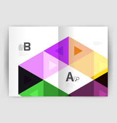 modern triangle print template vector image vector image