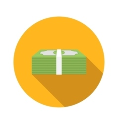 Money flat icon vector image vector image